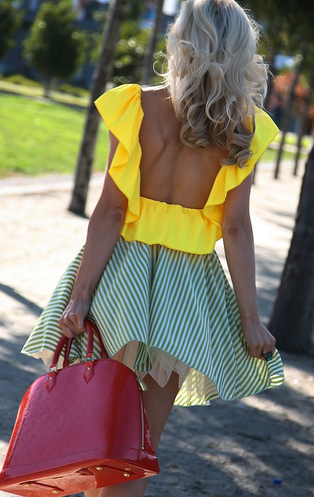 : Cute Tops, Summer Outfit, Color Combos, Blouse, Fashion Styles, Backless Top, Clothes Fashion Accessories, Baylor Colors