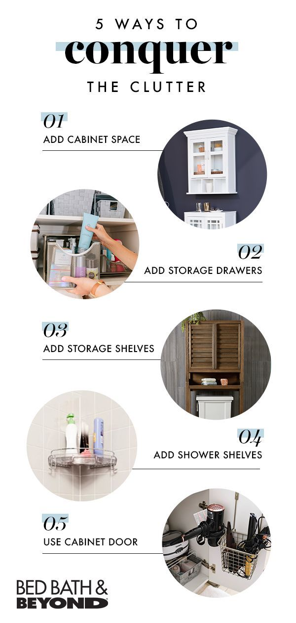 Declutter Your Space In Just One Weekend Let Bed Bath Beyond Give You Tips On How To Easily And Easy Bathroom Makeover Bathroom Space Saver Simple Bathroom