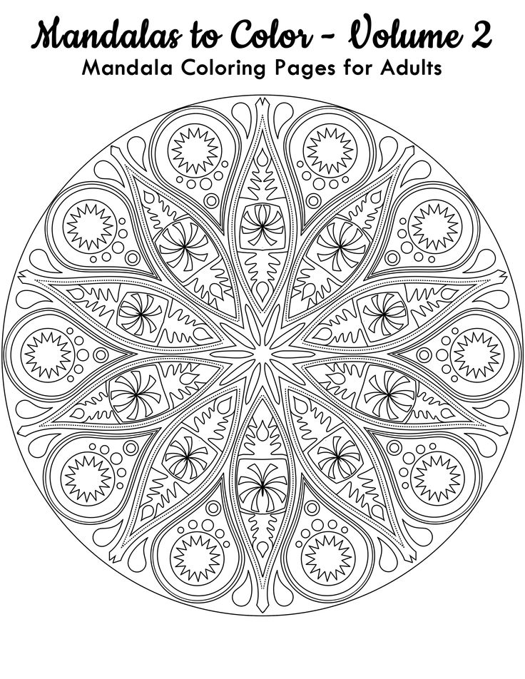 have this free mandala coloring image from mandalas to color volume 2 click here - Color Book 2