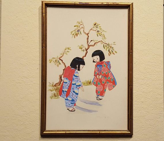 Check out this item in my Etsy shop https://www.etsy.com/listing/273091022/vintage-asian-framed-print