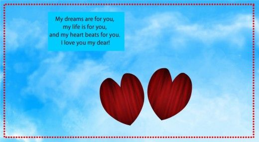 A card with a romantic quote for wife on her birthday. #love #birthdaycard