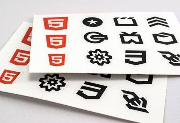 35 Contoh Desain Sticker Sebagai Media Promosi yang Efektif - 31. HTML5 Sticker Sheets