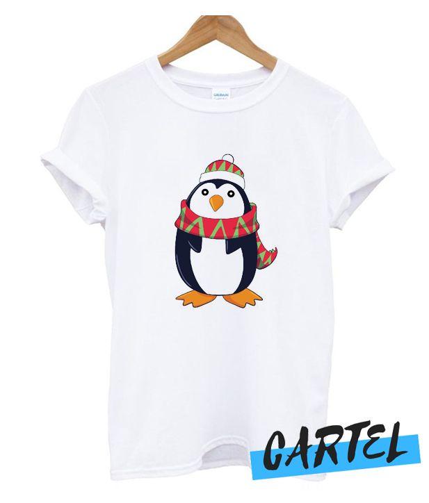 Cuddly Christmas Penguin T Shirt Penguin T Shirt Christmas Penguin Shirts