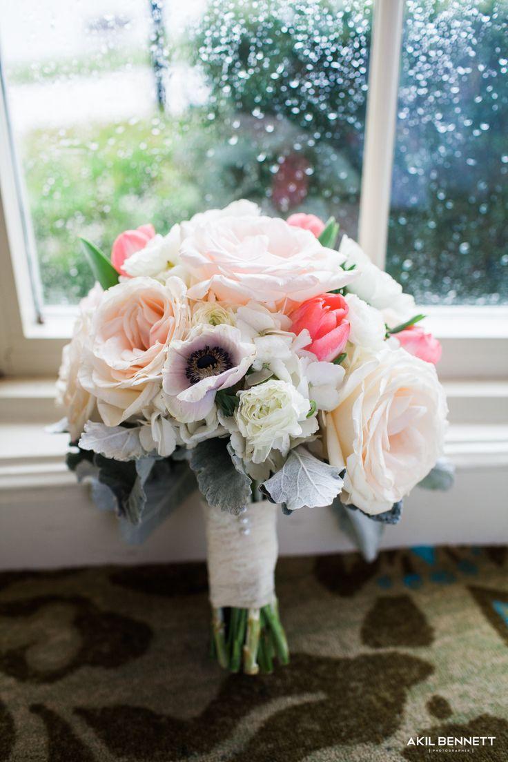 blush garden roses anemones tulips hydrangea lisianthus ranunculas dusty miller
