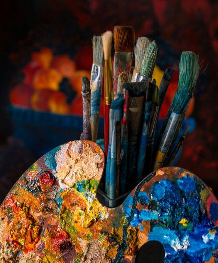 необъятное картинки художники кисти краски вместо желтков
