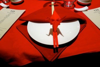 Red Table Setting by @azbcreative