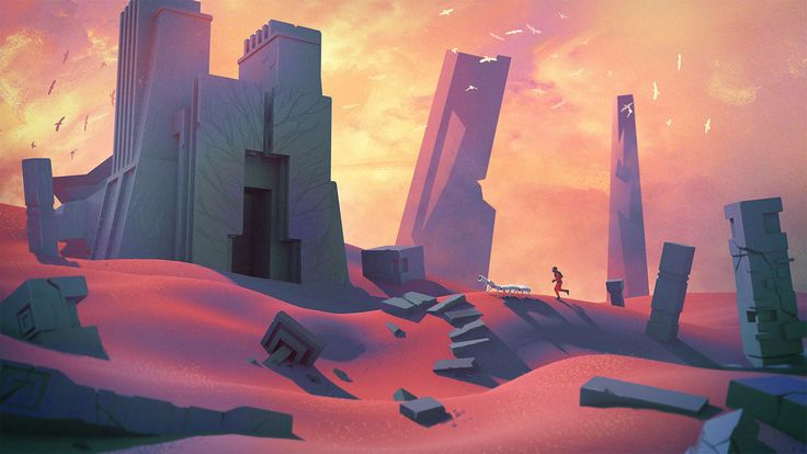 Abandoned planet, Sylvain Sarrailh on ArtStation at https://www.artstation.com/artwork/AXERq