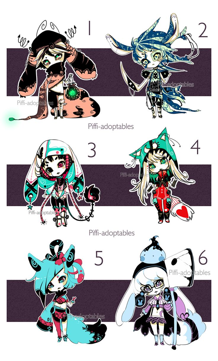 [CLOSED] ADOPT Auction 17 - set by Piffi-adoptables on deviantART