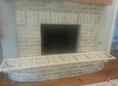 fireplace hearth width and cut our wood