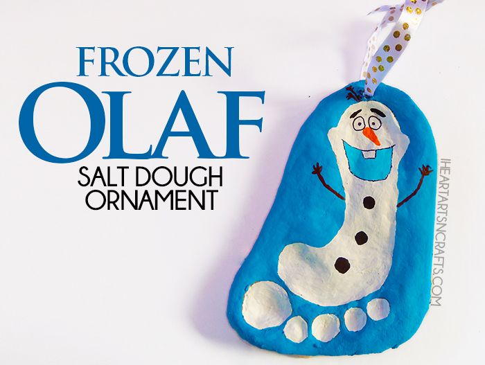 Make a Frozen Olaf Salt Dough Ornament with this easy tutorial. Perfect for on the tree or as a keepsake gift for the holidays!