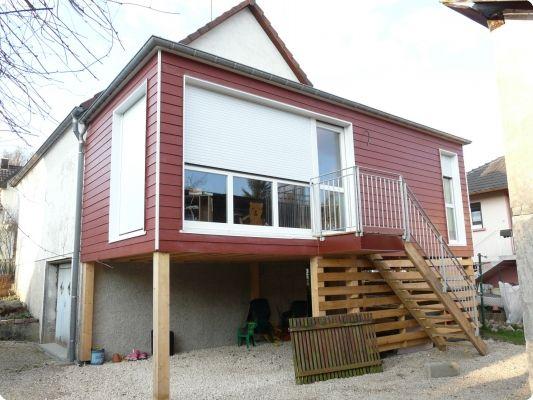 Petite extension en bois sur pilotis extension pinterest home renovatio - Extension maison container ...