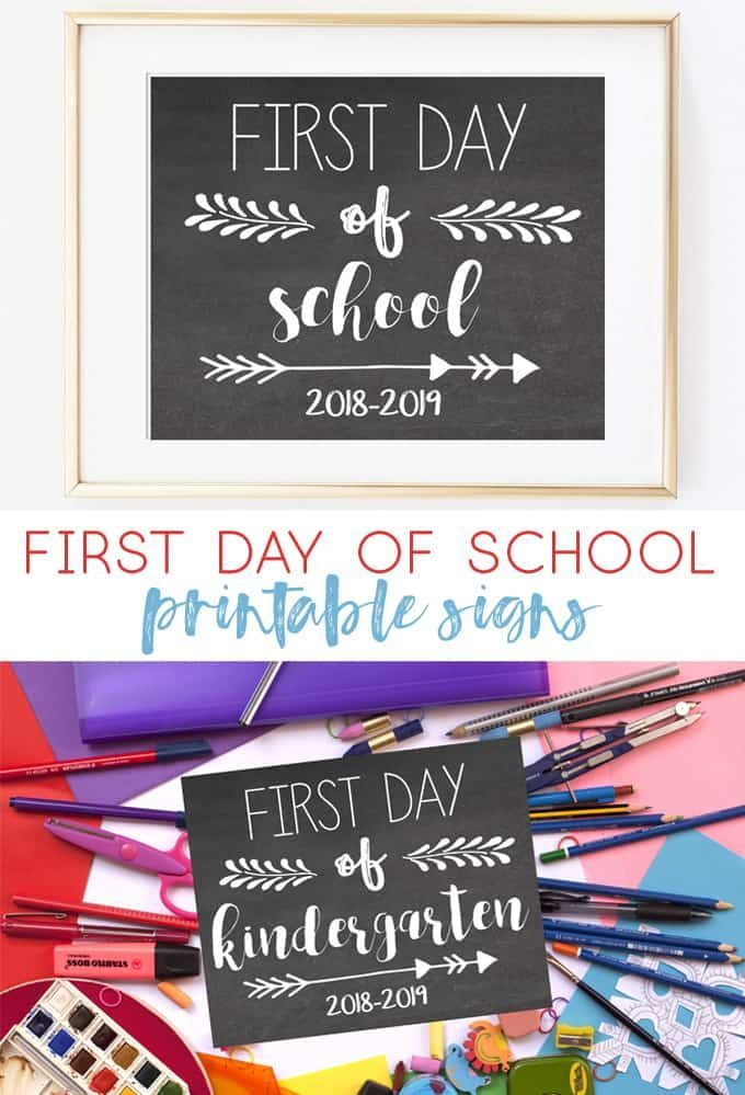 picture regarding First Day of School Printable named To start with Working day of Faculty Printables 2018-2019 Hometalk: Do-it-yourself