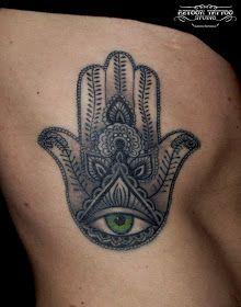 AZTOON TATTOO STUDIO: Hamsa Tattoo ,,,, Hand of Fatima