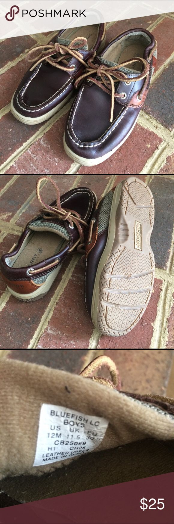 Boys Sperrys Brown leather Sperrys, style is Bluefish. Minimal signs of wear! Sperry Top-Sider Shoes