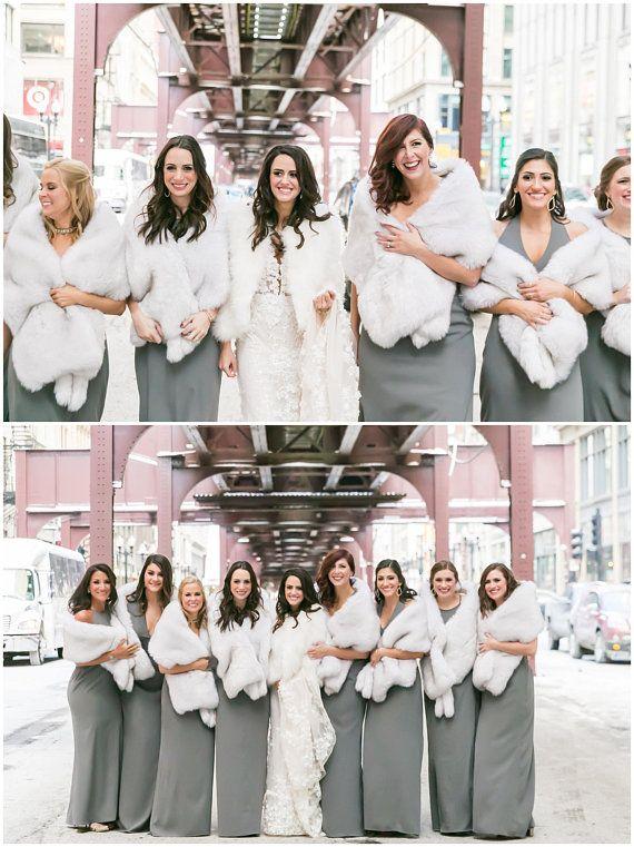 Light Gray Fur Shawl Silver Fur Bridal Wrap Wedding Fur Etsy Wedding Fur Fur Bridesmaids Faux Fur Bridesmaids
