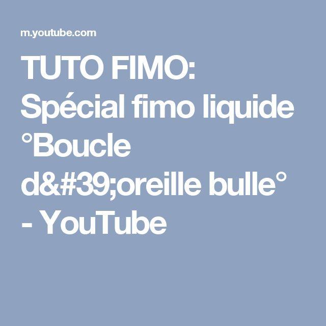 TUTO FIMO: Spécial fimo liquide  °Boucle d'oreille bulle° - YouTube