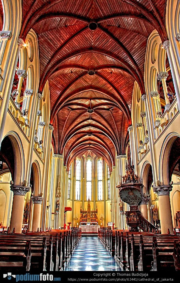 Architecture of Jakarta Cathedral - Visit http://asiaexpatguides.com and make the most of your experience in Indonesia! Like our FB page https://www.facebook.com/pages/Asia-Expat-Guides/162063957304747 and Follow our Twitter https://twitter.com/AsiaExpatGuides for more #ExpatTips and inspiration!