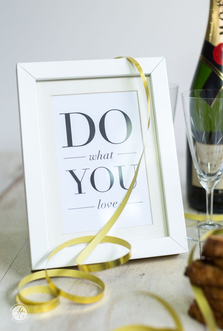 Do what you love, Sylvester, Party decoration