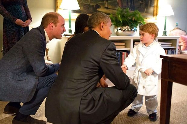 Prince George in his jammies and personalized robe...too cute!
