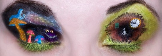 Alice in Wonderland scene eye makeup