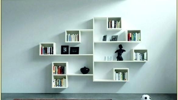 Eket Wall Mounted Storage Combination Multicolor 1 Ikea In 2020 Cube Wall Shelf Minimalist Bookshelves Wall Shelves Bedroom