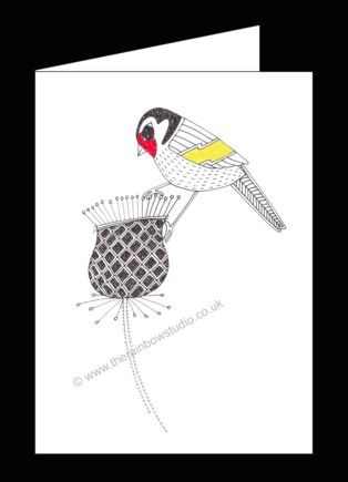 Card from original illustration Goldfinch by Emma Giles ART021 from www.therainbowstudio.co.uk