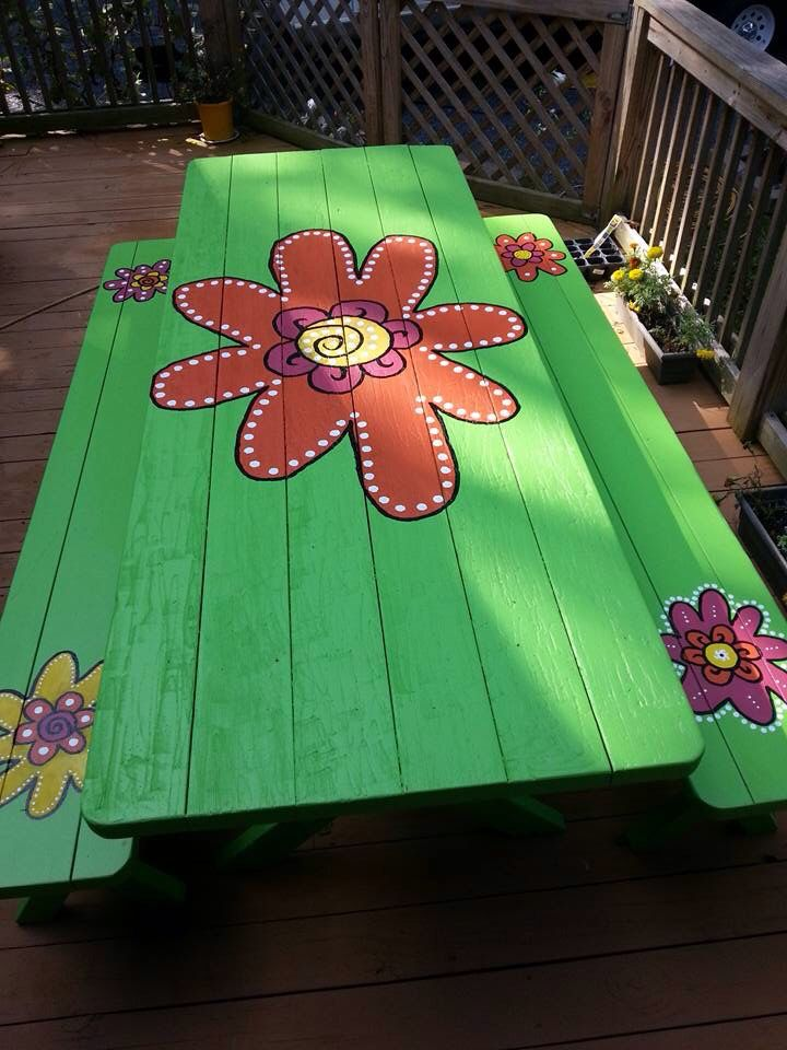 Painted Tables 21 best picnic table painting ideas images on pinterest | painted