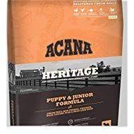 ACANA Heritage Puppy & Junior Dry Dog Food, 25 LB. Bag with Fresh Free-Run Turkey, Chicke…