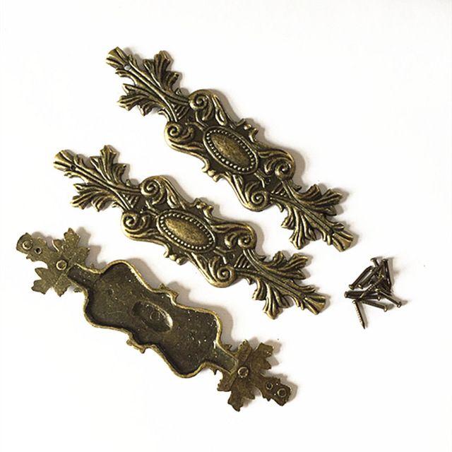 100 мм античная филе сплава отделка деревянные четыре угла мебель отделка угол охвата мебель, Металлические украшения