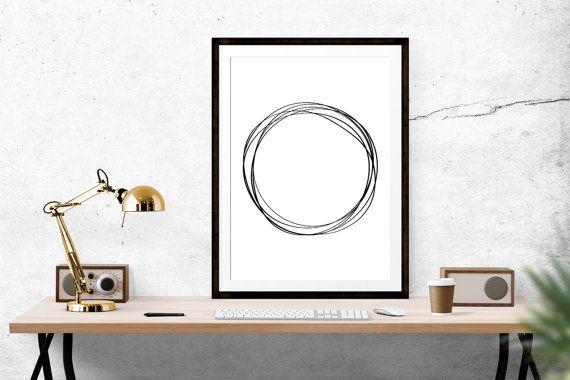 Circle of Life Print // Scandinavian print, Scandi Design, Motivational Print, Inspirational Print, Scandinavian Design, Wall Art, Home