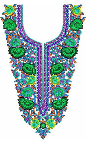 African Royal Kaftan Dress Embroidery Design