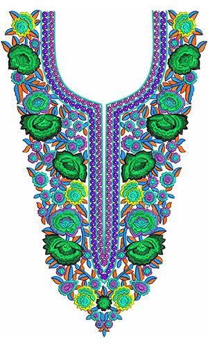 African Royal Kaftan Dress Embroidery Design