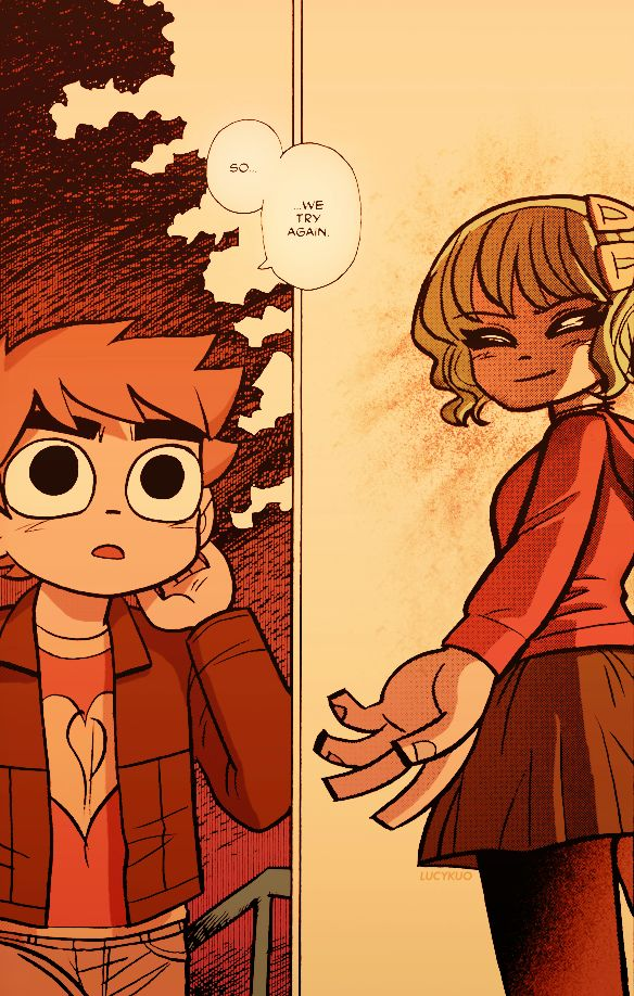 I love this moment at the end of the Scott Pilgrim books