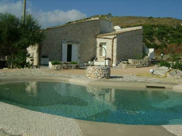 Villa Corte: An ancient farmhouse beautifully restored with pool and sea views http://www.dreamsicilyvillas.com/sicily-villas-with-pool/villa-corte/