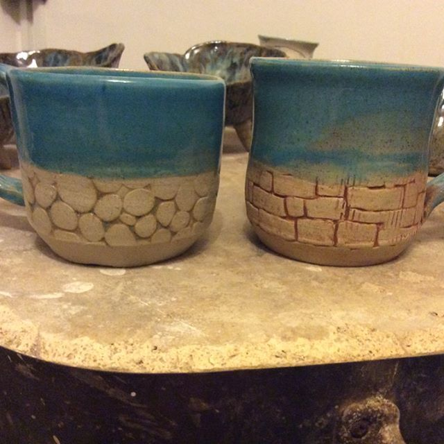 """10 Likes, 1 Comments - Caroline Gault (@zombiecazz) on Instagram: """"Testing some icing molds. Thinking they came out pretty good. #ceramics #pottery #mugs"""""""