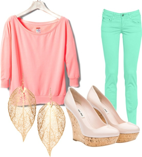 So purty!Casual Summer, Pastel Cerveza Tennis, Clothing, Fashion Design, Pastel Colors, Casual Looks, Spring Outfit, Bright Colors, Dreams Closets