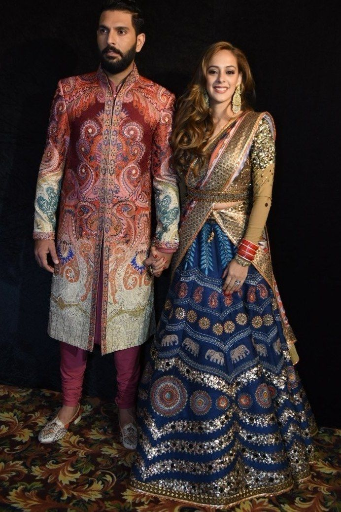 Yuvraj Singh And Hazel Keech Had A Grand Wedding Reception; Here Are Photos