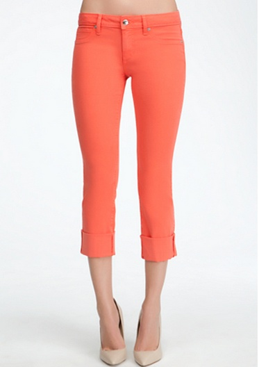 Icon Cuffed Crop Jean Hot COral #bebeindonesia #bebe #summer #musthaves