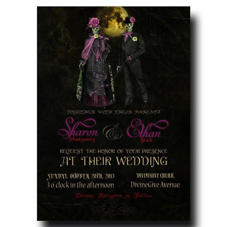 Halloween Wedding Invitation - Mrs