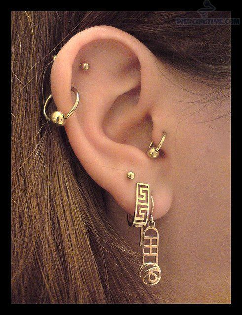 Con piercing Helix Ring & Piercing Stud Y trago y el lóbulo For Girls