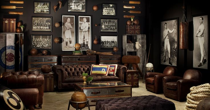 """If I could decorate a """"man cave"""" for my hubby.... lol, who am i kidding?"""
