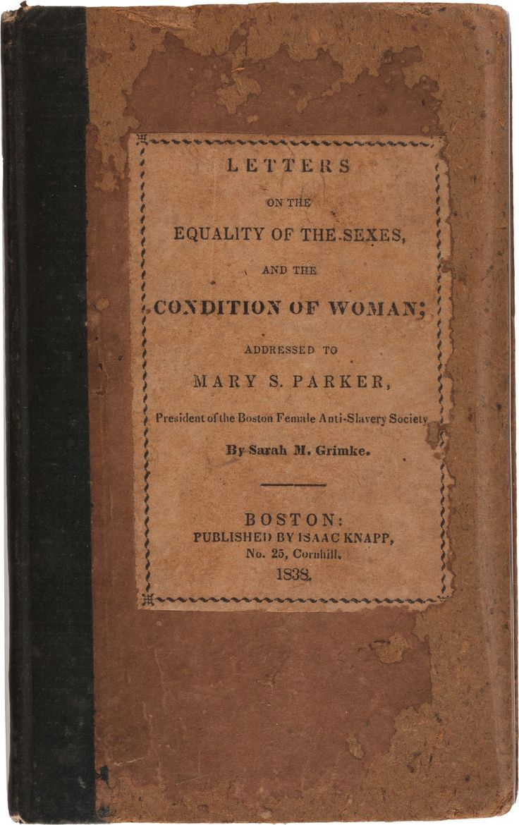 letters on the equality of the sexes the world s catalog of ideas 23387