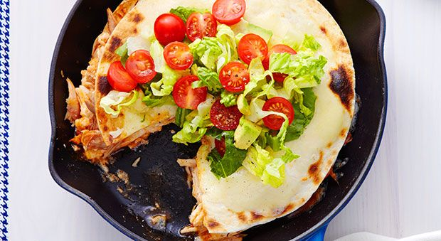 Triple-Decker Tortilla Pie | Recipe | Tortilla Pie, Tortillas and Pies