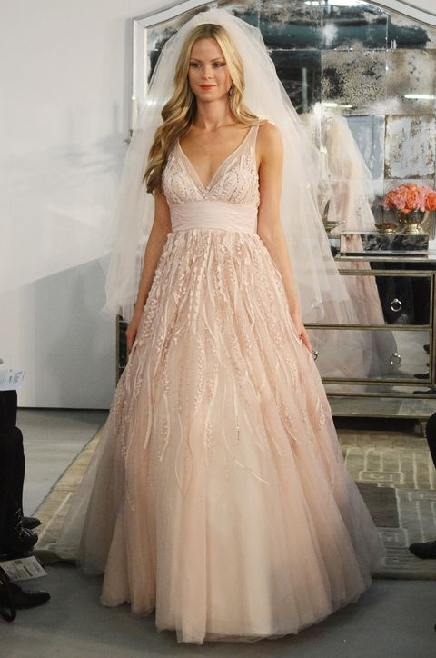 Our Favorite Wedding Dresses From Bridal Market Fall 2013: Weddings: glamour.com