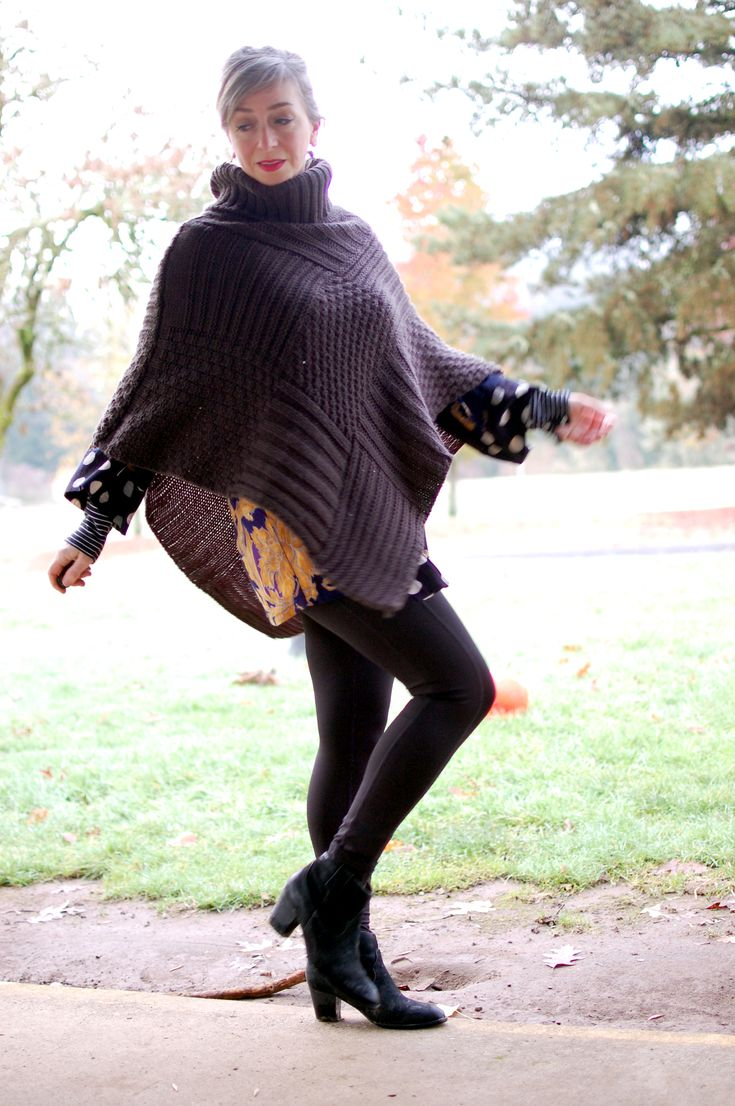 22 best Poncho Outfits images on Pinterest | Poncho outfit, Ponchos ...