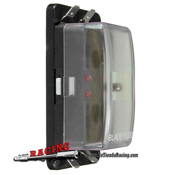 Caja Portafusibles de 4 Fusibles ATO 12V con Luces LED Universal Coche Camión Moto - 14,54€ - TUTIENDARACING - ENVÍO GRATUITO EN TODAS TUS COMPRAS