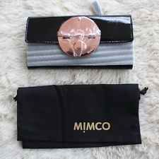 BNWT MIMCO $199 Rose Gold Turnlock Wallet Clutch Black Patent Leather w/dust bag