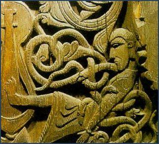 Viking King Ragnar Lodbrok (died 865) and his wife, the Viking Warrior Queen Aslaug. (aka: Kraka) My 37th, 39th & 40th GGP.