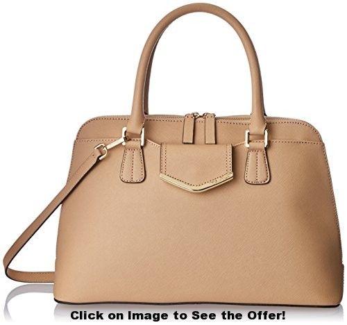 Calvin Klein 1 RP Saffiano Satchel Top Handle Bag, Nude, One Size
