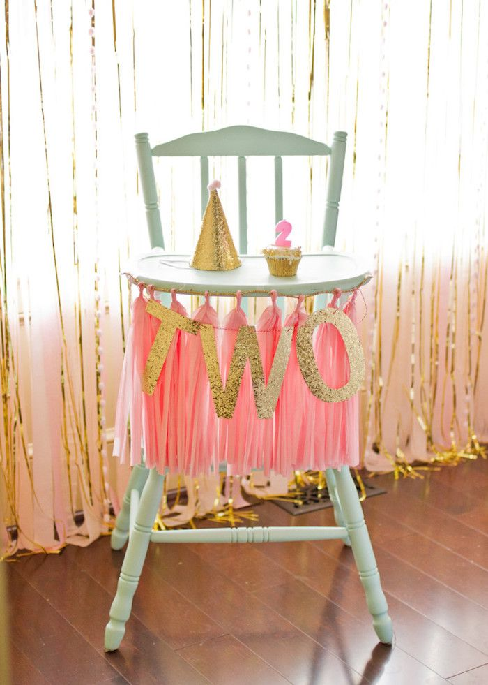 Pink and gold birthday party #birthdayparty #kidsparty #pinkandgold